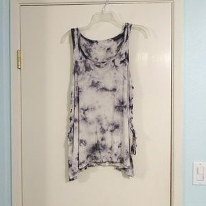 American Eagle Tie Dye Tank with Lace up Sides